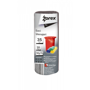 Saci menajeri Zorex Pro, 35L, negru, 20 buc/rola