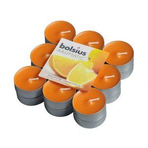Lumanari pastile portocala 18/set