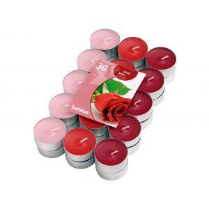 Lumanari pastile trandafir 30/set