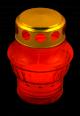 Candelă TIP40  recipient sticlă  h-11.5 cm